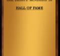 Hall of Fame 1963