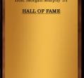 Hall of Fame 1970