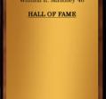 Hall of Fame 1982