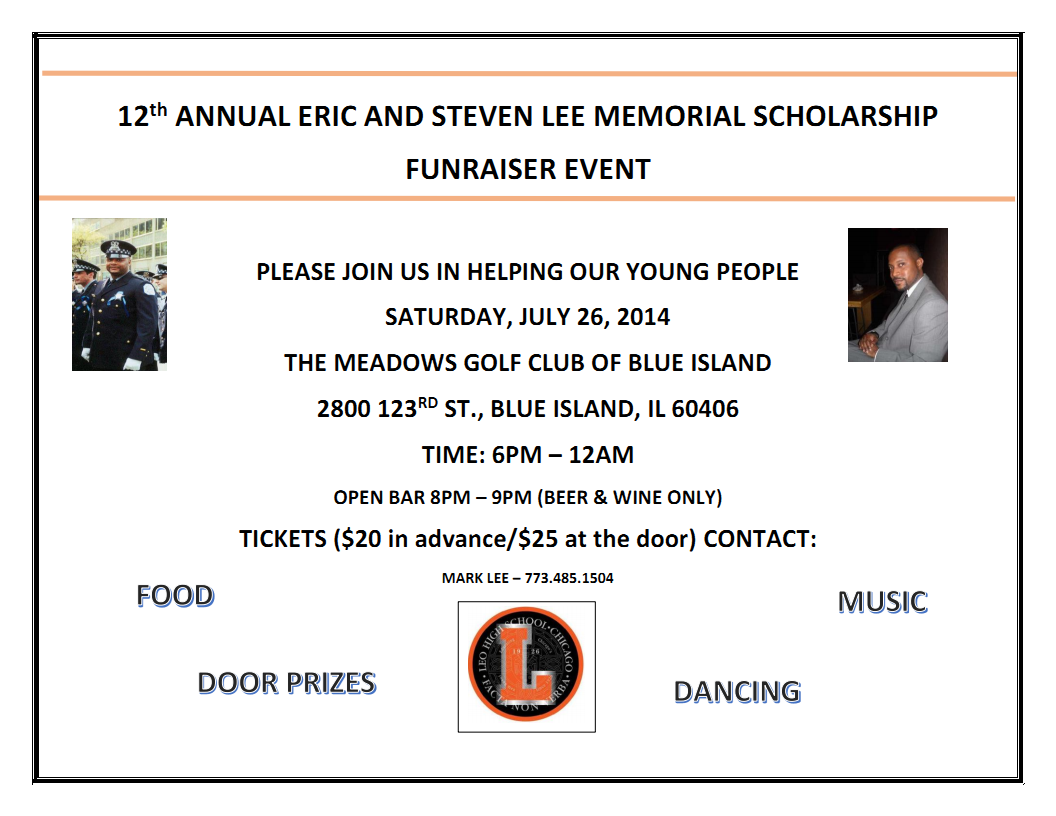 12TH Annual Eric and Steven Lee Memorial Scholarship Fundraiser Event 2014