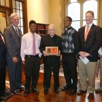 Cardinal Francis George Inducted into Leo Hall of Fame
